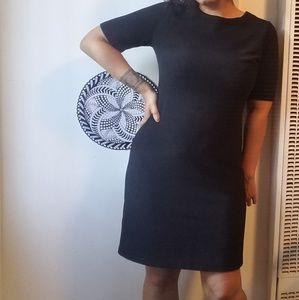 Classic Ribbed Black Dress